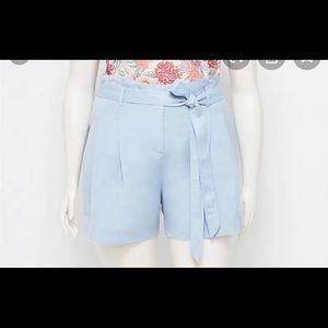Loft plus size linen tie waist shorts size 22 NWT